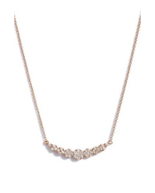 Bony Levy | Metallic 'liora' Diamond Pendant Necklace (nordstrom Exclusive) | Lyst