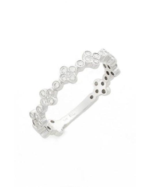 Bony Levy   Metallic Stackable Diamond Clover Ring (nordstrom Exclusive)   Lyst