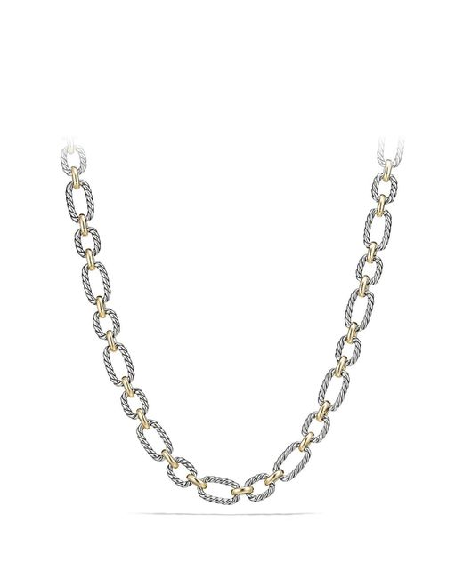 David Yurman - Multicolor Cushion Link Necklace With Blue Sapphires - Lyst