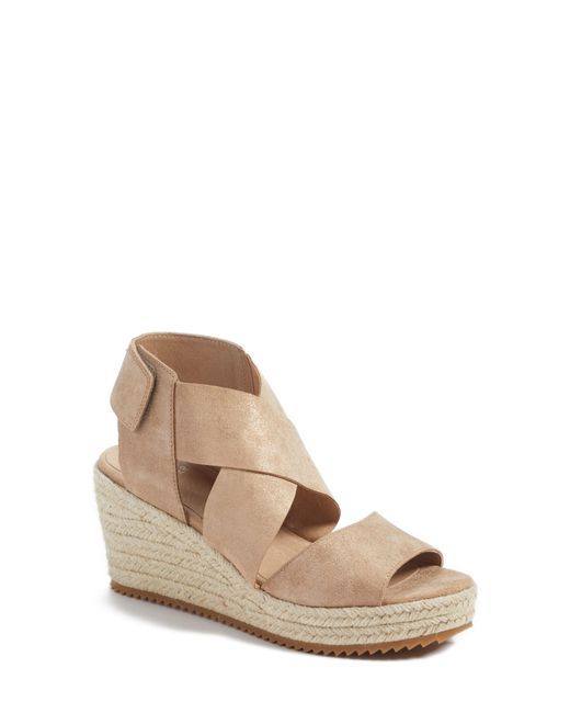 Eileen Fisher - Blue 'willow' Espadrille Wedge Sandal - Lyst