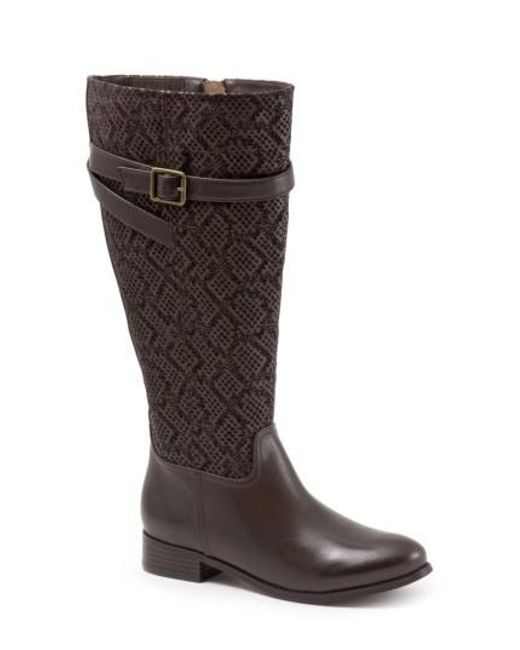 Trotters - Brown Lyra Tall Boot - Lyst