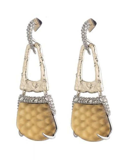 Alexis Bittar   Metallic Lucite Crystal Accent Drop Earrings   Lyst