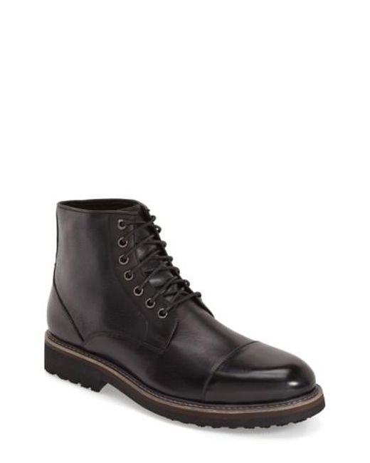 Zanzara | Black 'northstar' Cap Toe Boot for Men | Lyst