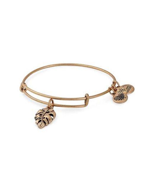 ALEX AND ANI - Metallic Palm Leaf Charm Bracelet - Lyst
