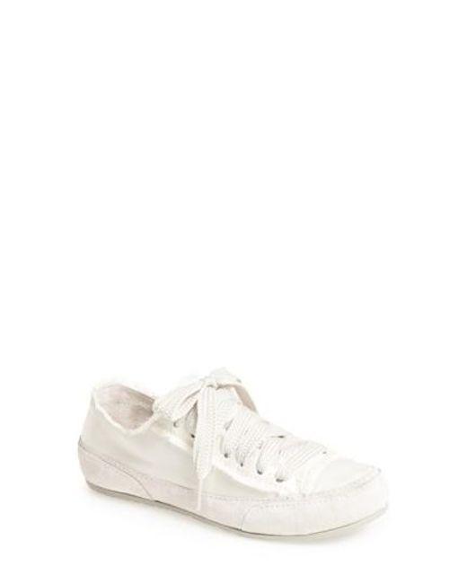 Pedro Garcia   White 'parson' Satin Sneaker   Lyst
