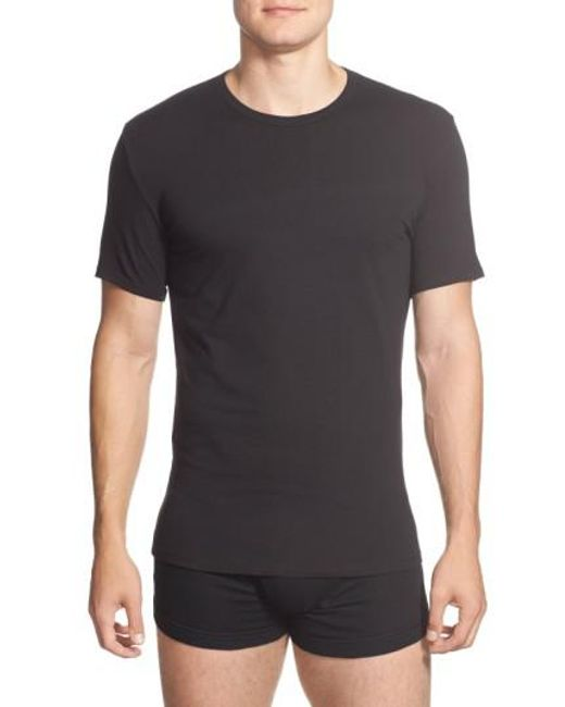Calvin Klein | 2-pack Stretch Cotton Crewneck T-shirt, Black for Men | Lyst