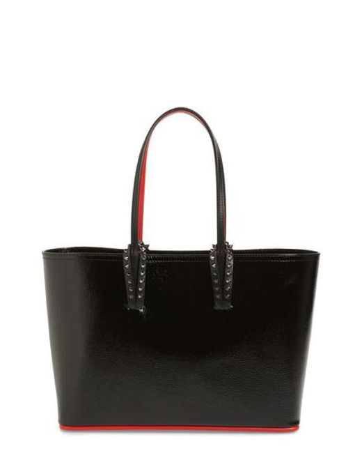 30ac11ee49c Lyst - Christian Louboutin Small Cabata Leather Tote in Black