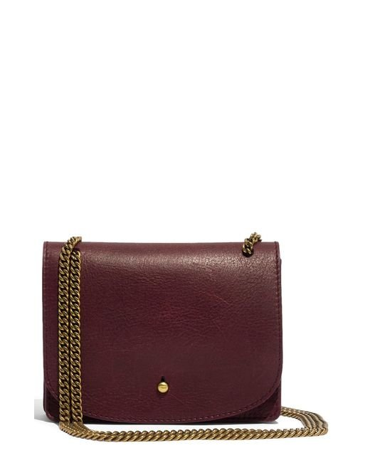 Madewell - Red Leather Crossbody Wallet - - Lyst