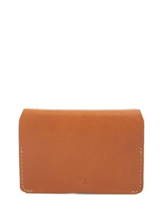 Bellroy | Brown Leather Card Case - Metallic | Lyst