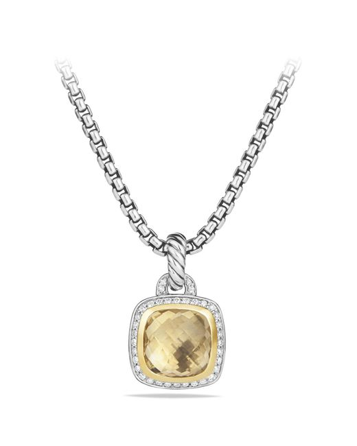 David Yurman - Metallic 'albion' Pendant With Diamonds And 18k Gold - Lyst