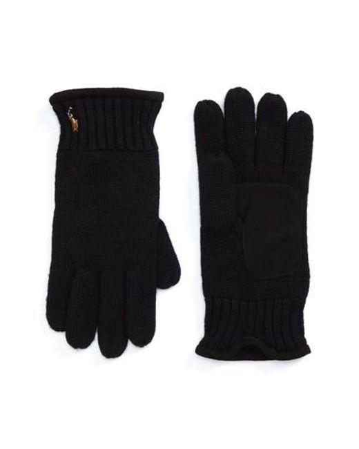 Polo Ralph Lauren | Black Classic Luxe Merino Wool Gloves for Men | Lyst