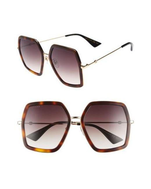 Gucci - Multicolor 56mm Sunglasses - - Lyst