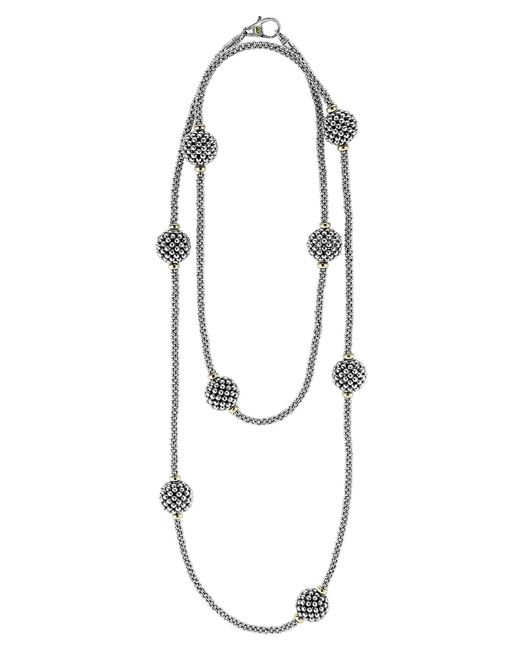 Lagos - Metallic 'caviar Forever' Station Rope Long Necklace - Lyst