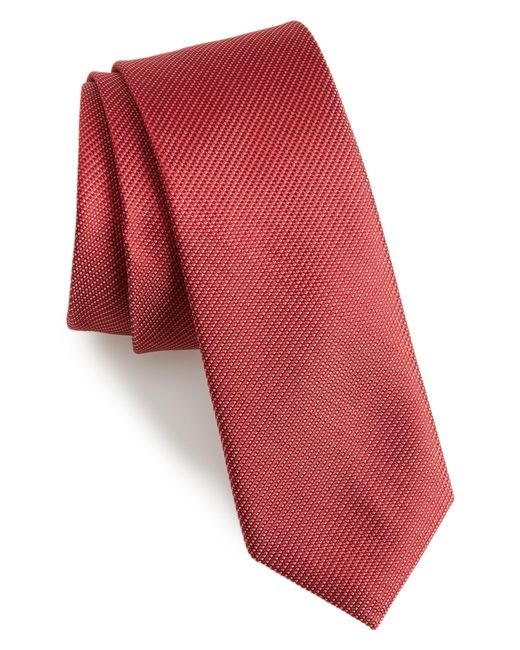 Calibrate - Red Sheffield Solid Silk Tie for Men - Lyst