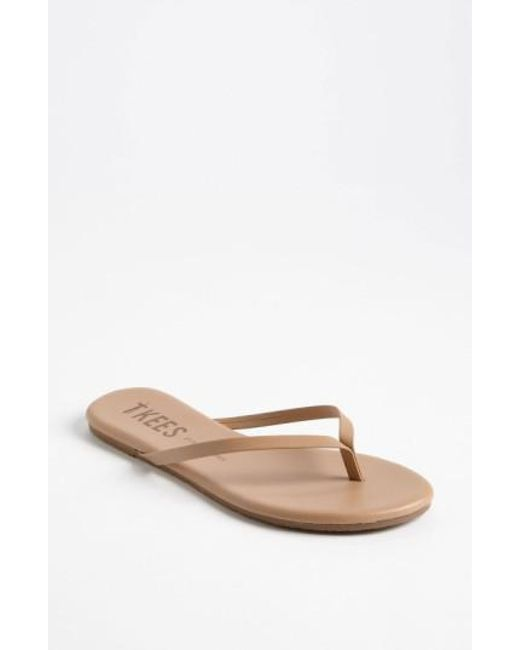 TKEES - Brown 'foundations' Flip Flop - Lyst