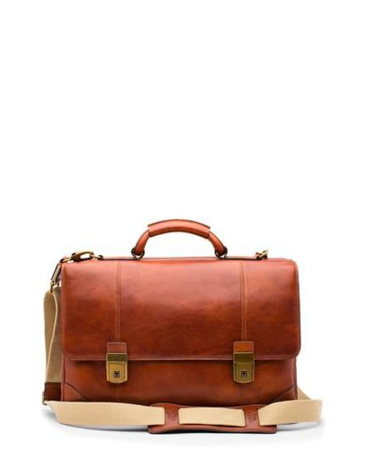 Bosca - Red Dolce Leather Briefcase for Men - Lyst