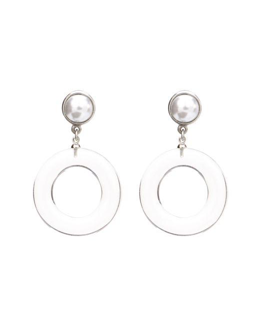 Ben-Amun - Metallic Imitation Pearl Clip Earrings - Lyst