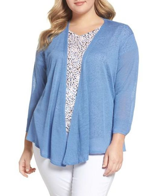 NIC+ZOE - Blue Four-way Convertible Cardigan - Lyst