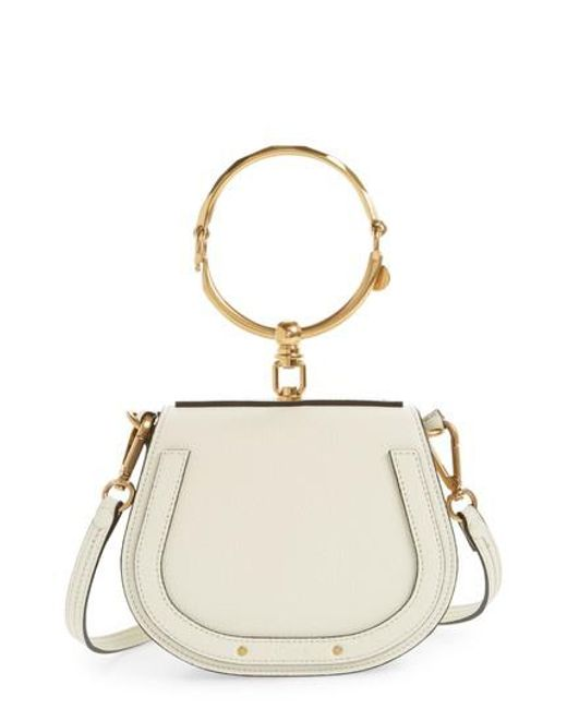 Nile Bracelet Mini Leather Shoulder Bag - Off-white Chlo yU13u