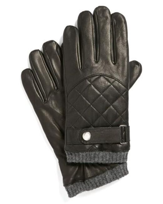 Polo Ralph Lauren | Black Quilted Racing Gloves for Men | Lyst