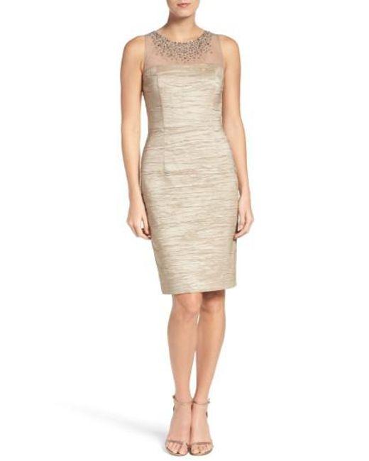 Eliza J | Multicolor Metallic Sheath Dress | Lyst