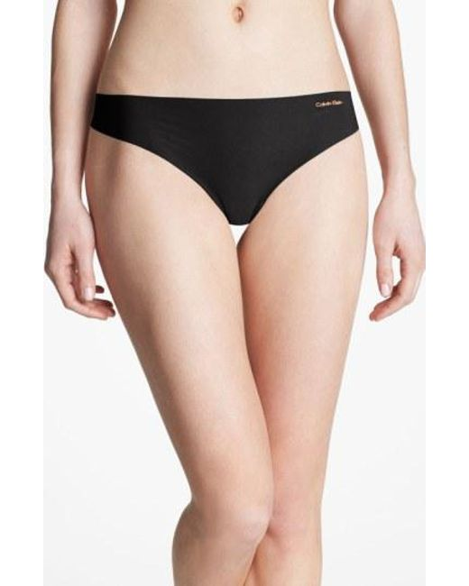 CALVIN KLEIN 205W39NYC - Black 'invisibles' Thong - Lyst