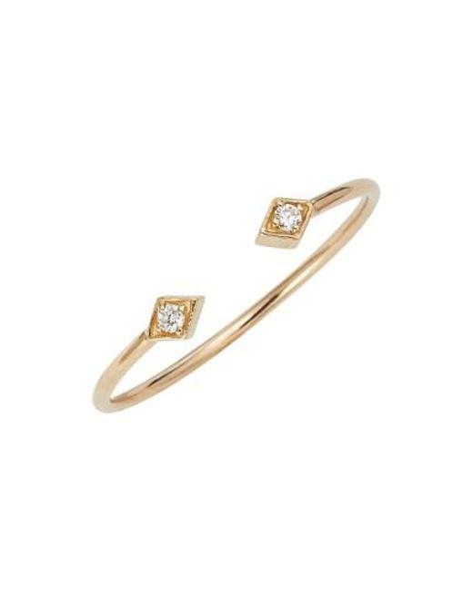 Zoe Chicco | Metallic Open Diamond Ring | Lyst
