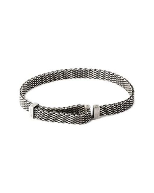 Title Of Work - Metallic Adjustable Mesh Bracelet for Men - Lyst