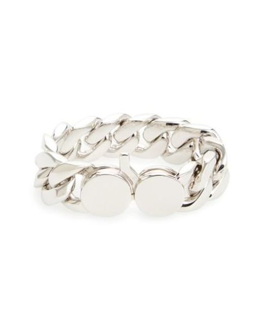 Tom Wood | Metallic Medium Chunky Silver Chain Link Bracelet | Lyst