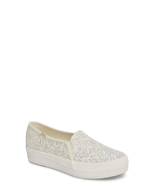 Kate Spade - Multicolor Keds For Kate Spade New York Triple Decker Glitter Slip-on Sneaker - Lyst