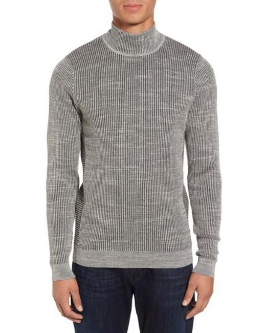Calibrate | Gray Mock Neck Sweater for Men | Lyst