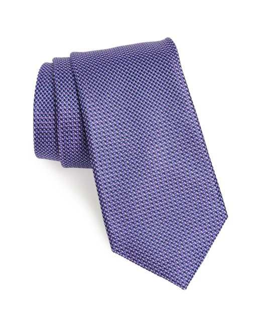 Nordstrom - Purple Russo Geo Print Silk Tie for Men - Lyst