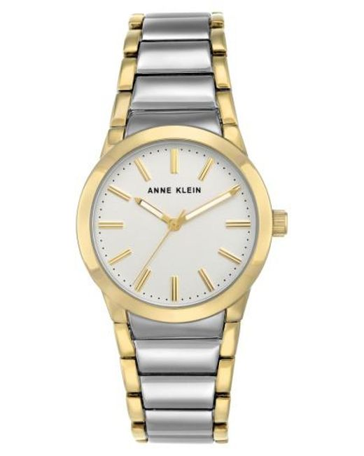 Anne Klein | Metallic Link Bracelet Watch | Lyst
