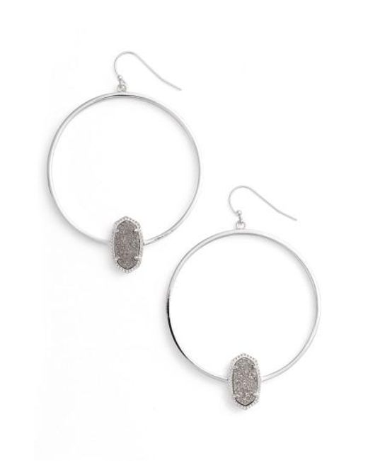 Kendra Scott - Metallic Elora Frontal Hoop Earrings - Lyst