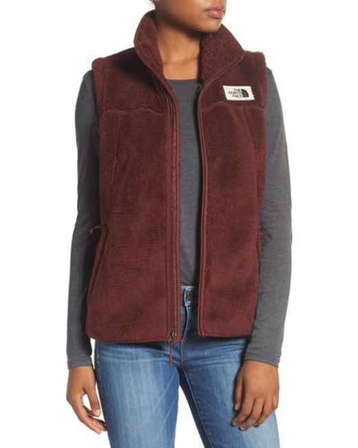 The North Face   Red Campshire Vest   Lyst