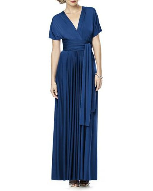 Dessy Collection - Blue Convertible Jersey Gown - Lyst