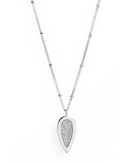 Melanie Auld - Metallic Teardrop Pendant Necklace - Lyst