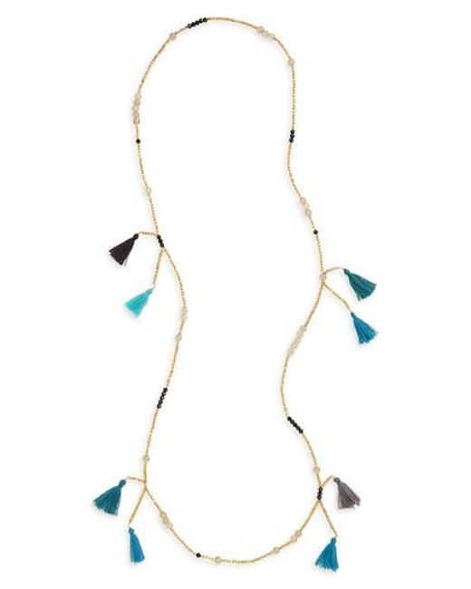 Panacea | Multicolor Multi Tassel Beaded Necklace | Lyst