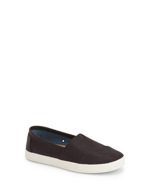 TOMS - Black 'Avalon' Slip-On - Lyst