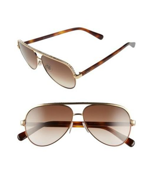 Jimmy Choo | Pink 'linas' 59mm Aviator Sunglasses | Lyst
