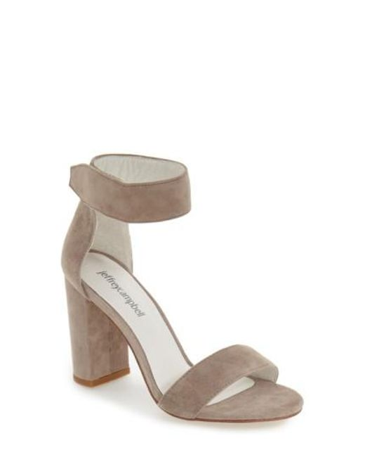 Lyst Jeffrey Campbell Lindsay Suede Ankle Strap Sandals