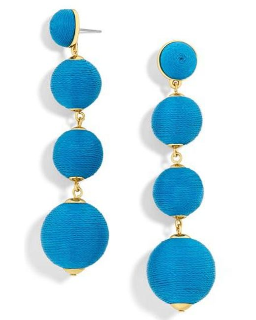 BaubleBar | Blue Criselda Ball Shoulder Duster Earrings | Lyst
