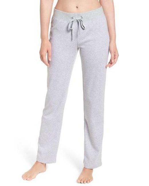 Ugg | Gray Ugg Penny Fleece Pants | Lyst