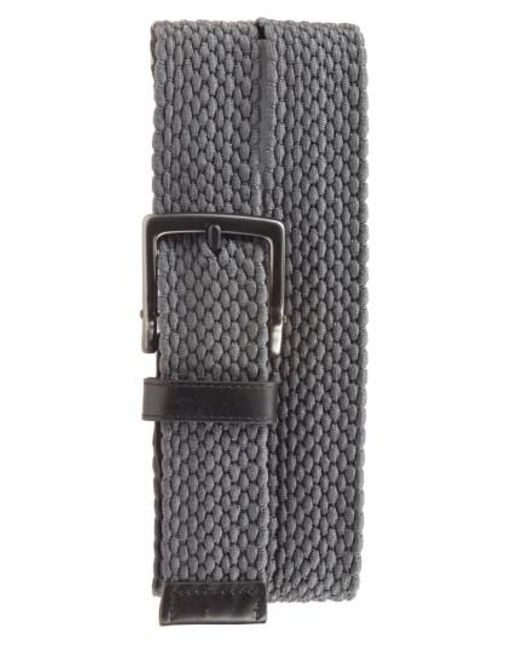 Nike | Gray Stretch Woven Belt | Lyst