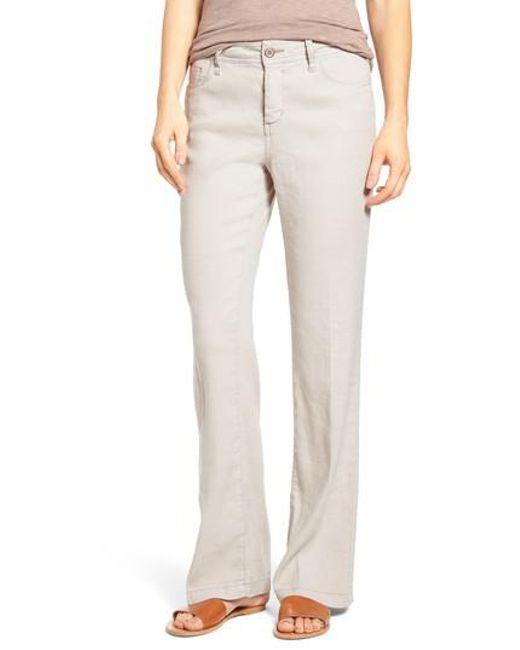NYDJ   Blue 'wylie' Five-pocket Linen Trousers   Lyst