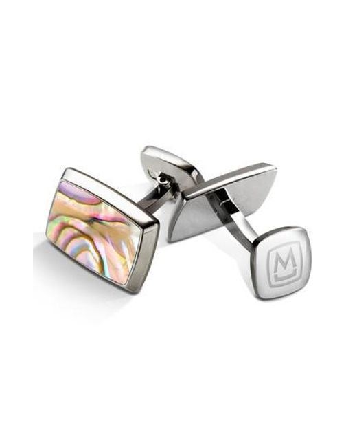 M-clip | Yellow M-clip Abalone Cuff Links for Men | Lyst