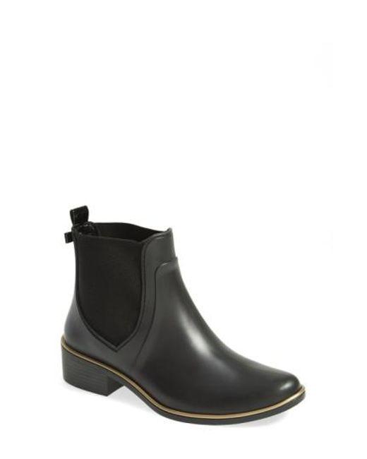 Kate Spade | Black 'sedgewick' Rubber Rain Boot | Lyst
