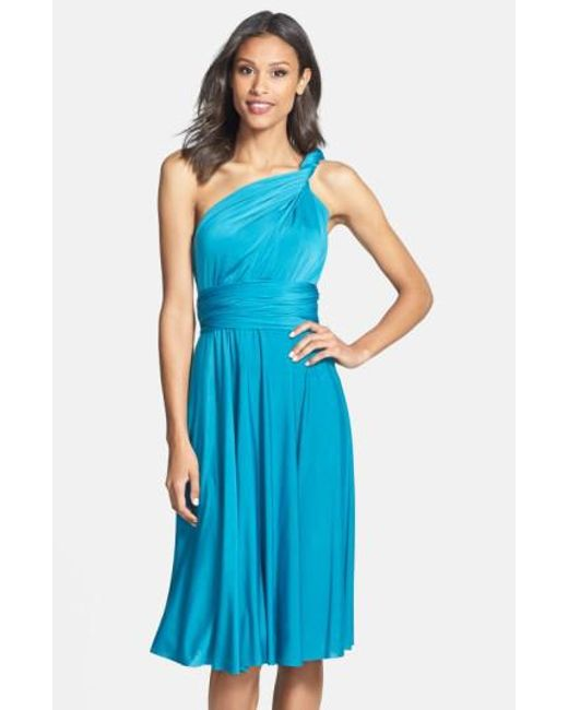 Dessy Collection | Blue Adjustable Jersey Gown | Lyst