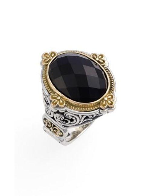 Konstantino | Metallic 'nykta' Faceted Stone Ring | Lyst