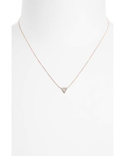Dana Rebecca | Metallic 'emily Sarah' Diamond Triangle Pendant Necklace | Lyst